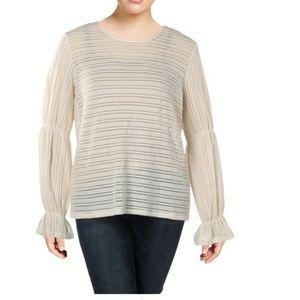 MICHAEL Michael Kors Womens Long Sleeves Lace Top